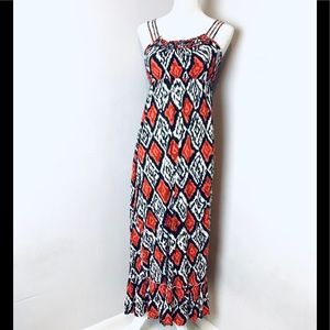 Forever 21 printed maxi dress sleeveless small